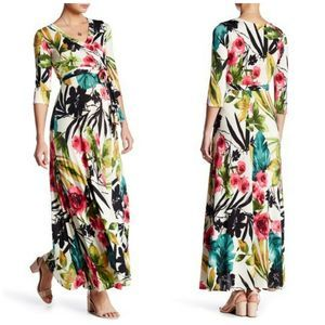 Pinkblush Maternity Tropic Floral 3/4 Sleeve Maxi